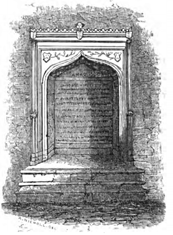 Sir Thomas More's Monument, Picturesque Thames,Murray,1845