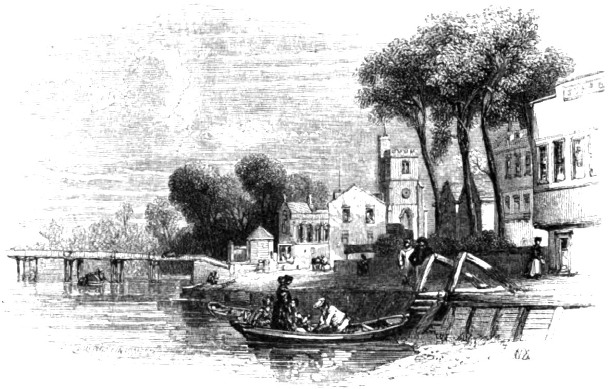 Putney, Picturesque Thames,Murray,1845