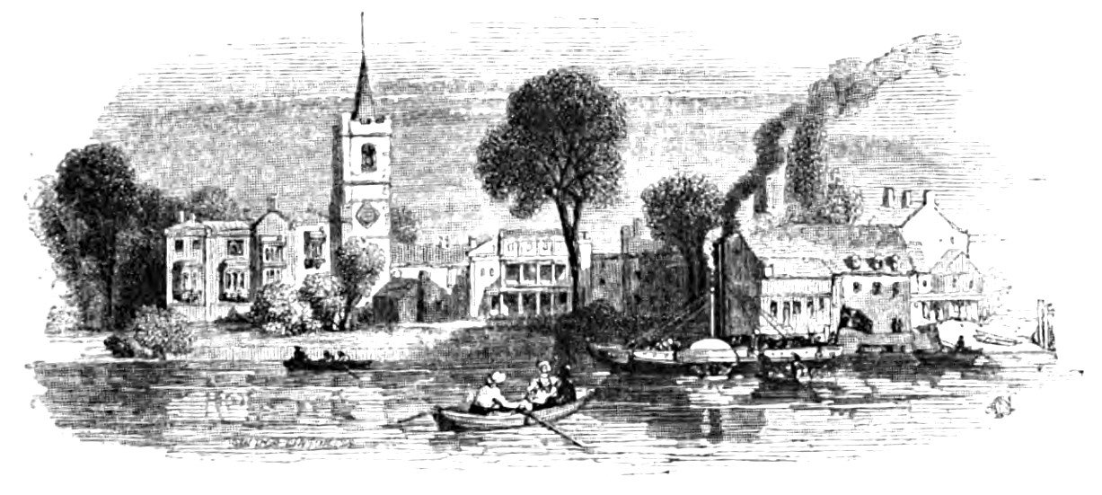 Fulham, Picturesque Thames,Murray,1845
