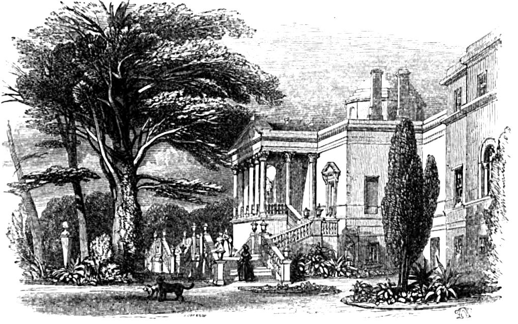 Chiswick House, Picturesque Thames,Murray,1845