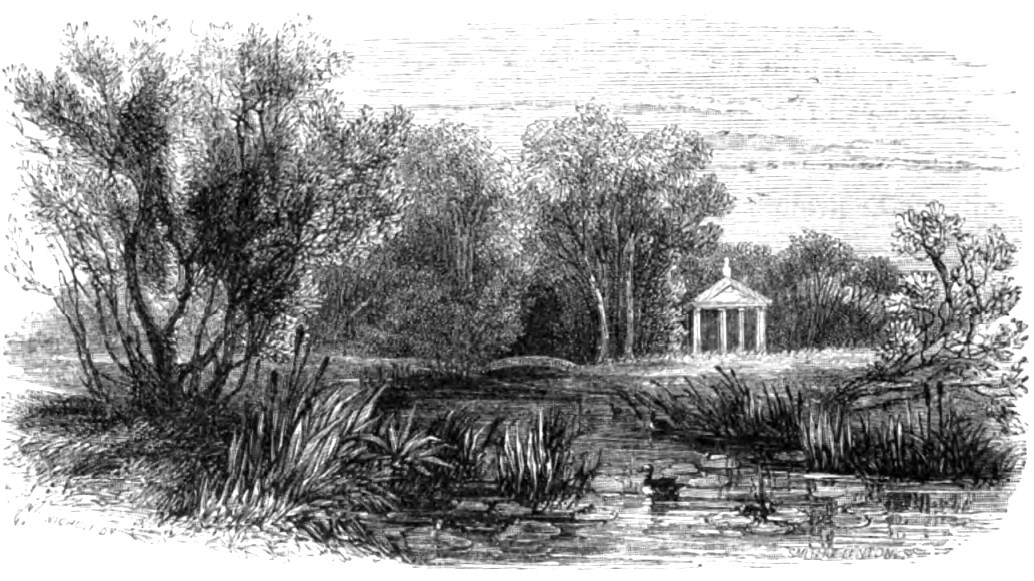 Horticultural Gardens, Chiswick, Picturesque Thames,Murray,1845