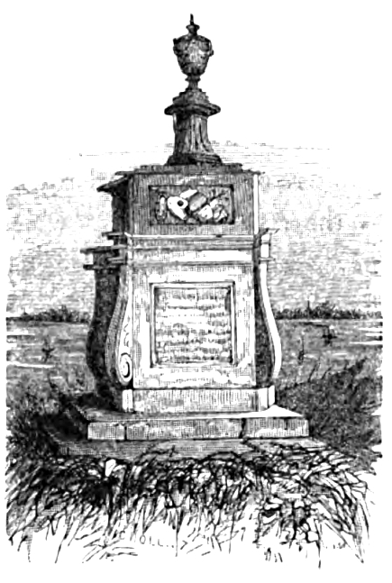 Hogarth's Tomb, Picturesque Thames,Murray,1845