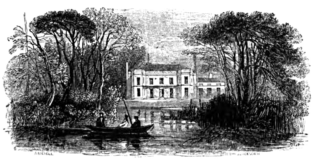 Barn Elms House, Picturesque Thames,Murray,1845