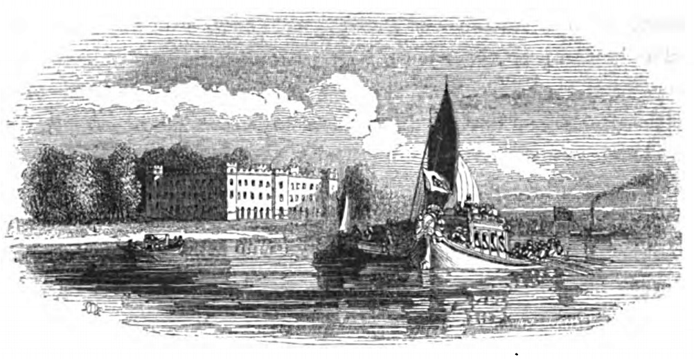 Sion House, Picturesque Thames,Murray,1845