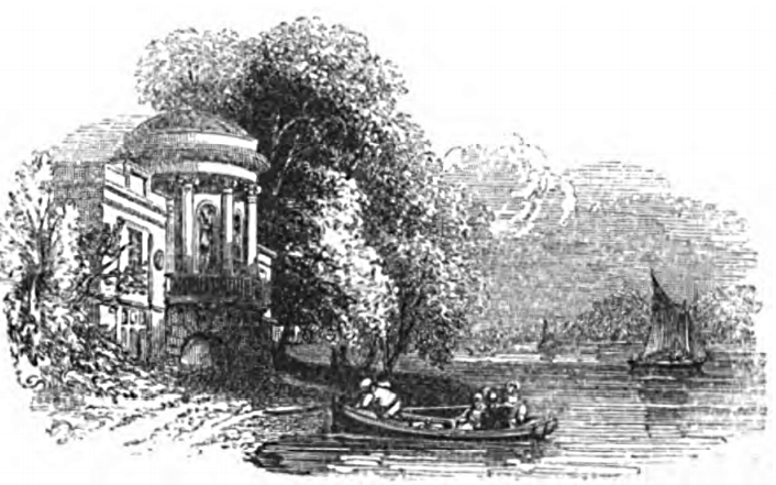 Boat House, Sion House, Picturesque Thames,Murray,1845