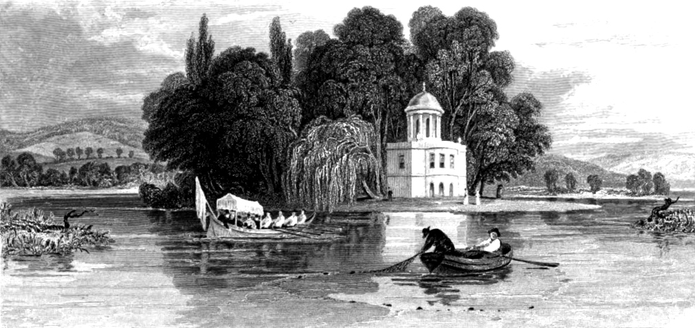 Temple Island Henley,Tombleson 1830