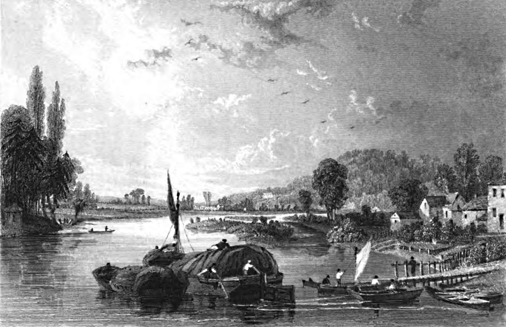 View from Maidenhead Bridge,Tombleson 1830