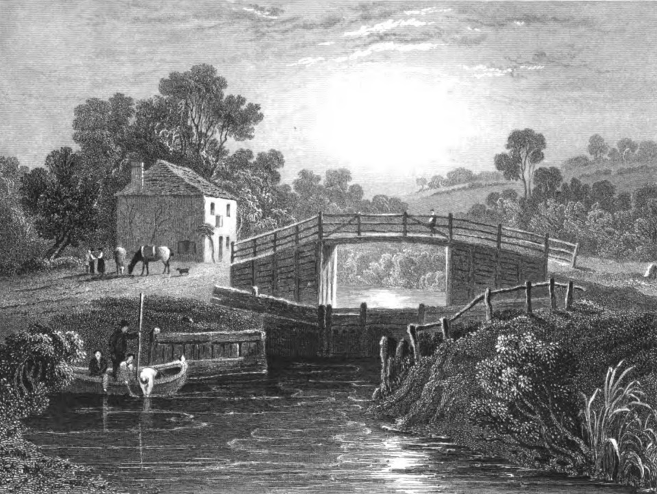 Old Windsor Lock,Tombleson 1830
