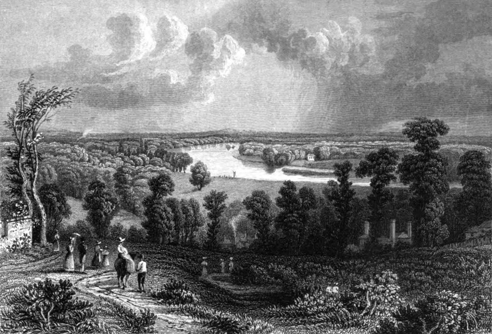 View from Richmond Hill,Tombleson 1830
