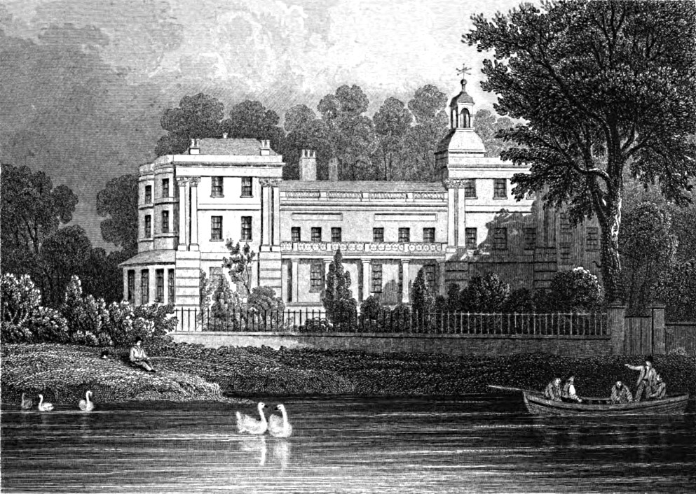 Seat of the marquis of Aylesbury,Tombleson 1830