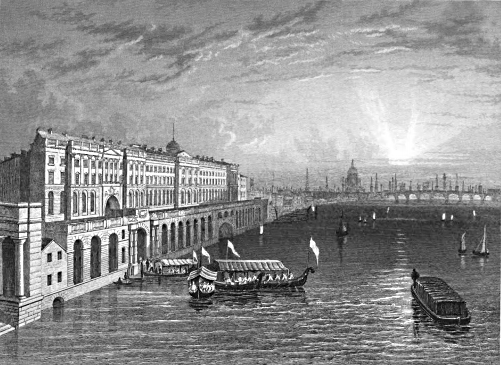 Somerset House,Tombleson 1830