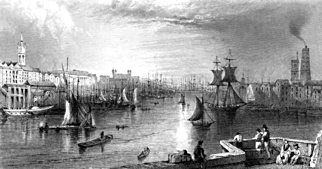 View from London Bridge,Tombleson 1830