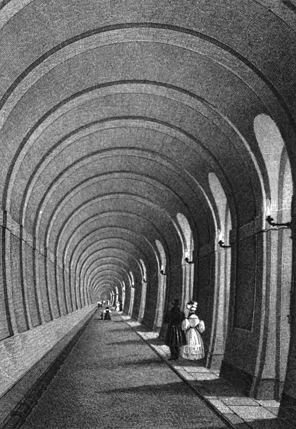 Thames Tunnel,Tombleson 1830