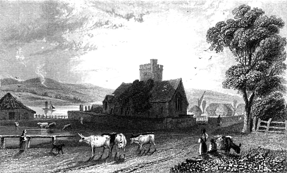 Woldham Church,Tombleson 1830