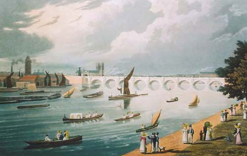 Waterloo Bridge,Richard Havell, 1820