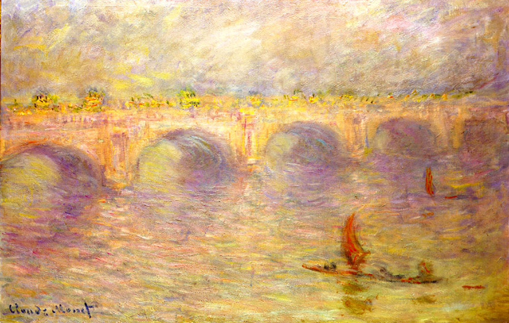 Waterloo Bridge, Monet 1920