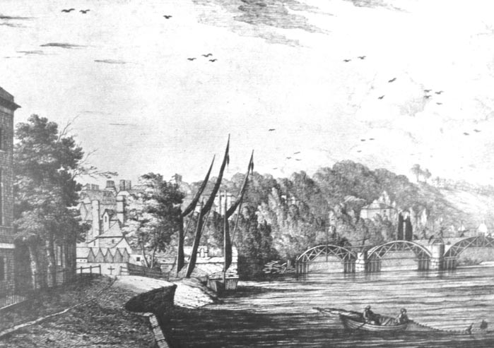 Richmond Bridge being built, 1774