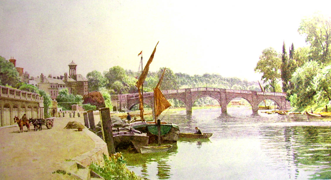 Richmond Bridge, Sutton Palmer, 1906