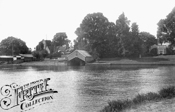 Shepperton, River and Church 1899, Surrey