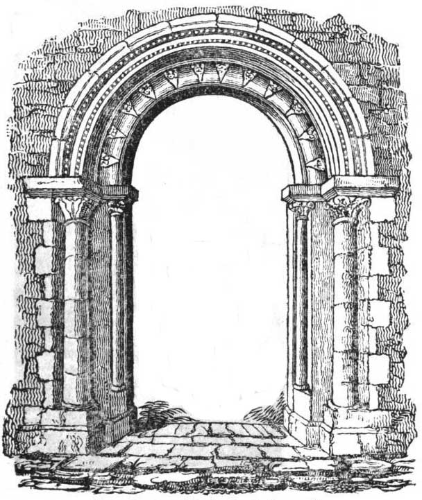 Fawley Court, Saxon Doorway, 1826