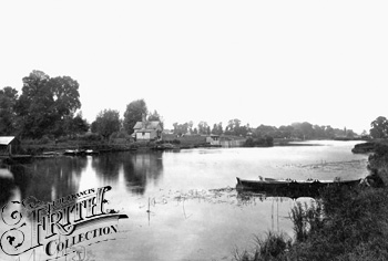 1890:  View upstream from Winterbrook Ferry, Francis Frith