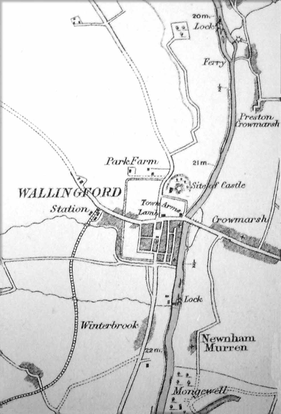 1873 Map showing Chalmore Lock