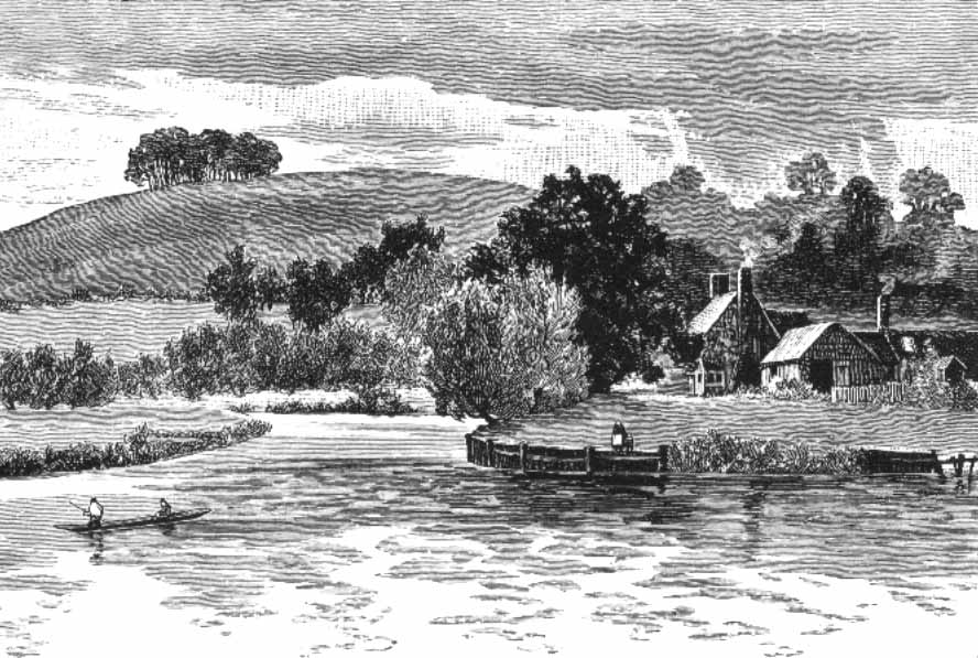 Sinodun Hill and Days Lock, The Royal River, 1885