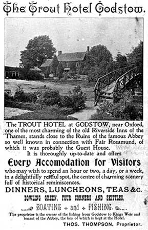Trout, Godstow, Advertisement 1909